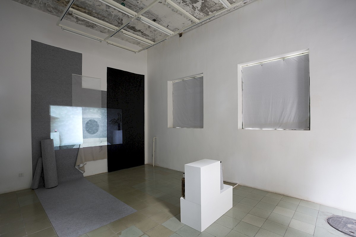Overview first room of 'Matter of Gradation II: Notes and Standstills'. Solo exhibition at Black Sesame Space in Beijing